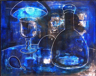 Alexandr Chulkov. Blue Still Life.