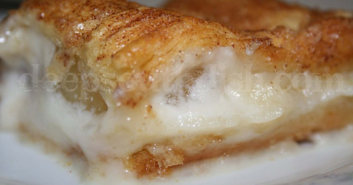 Deep south dish apple and cream cheese crescent squares for Pie iron recipes with crescent rolls