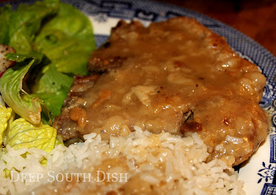 pan fried and finished in gravy country style pork chops in gravy