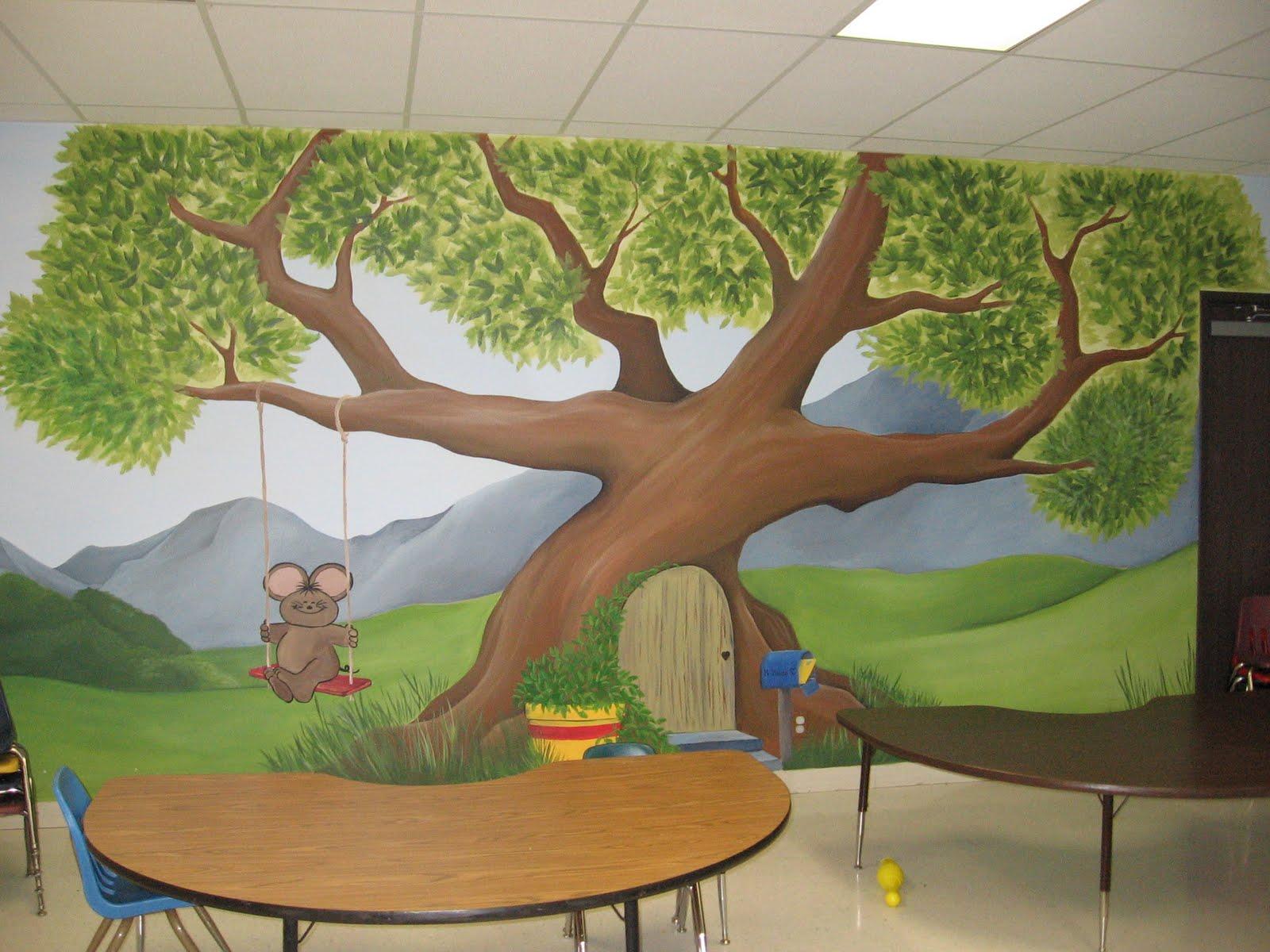 Bermulanya di prasekolah ini melukis mural for Contoh lukisan mural tadika