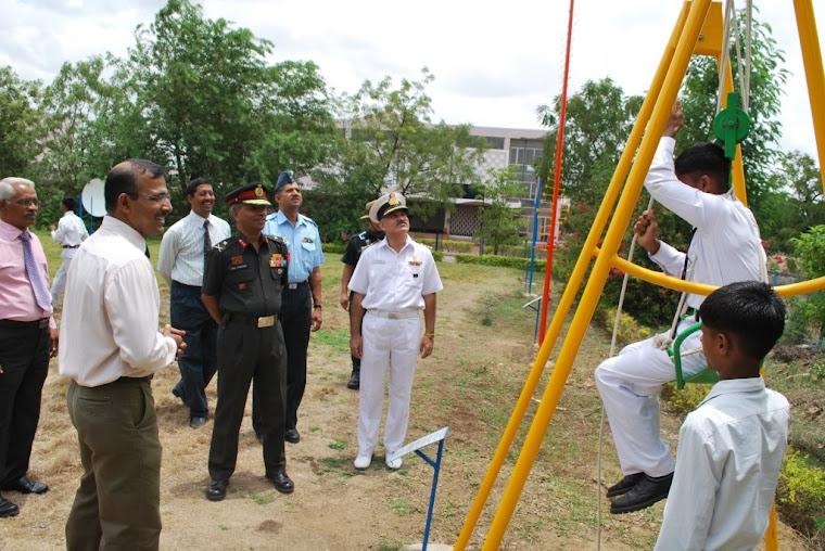 Maj Gen VSS Goudar in the Science Park