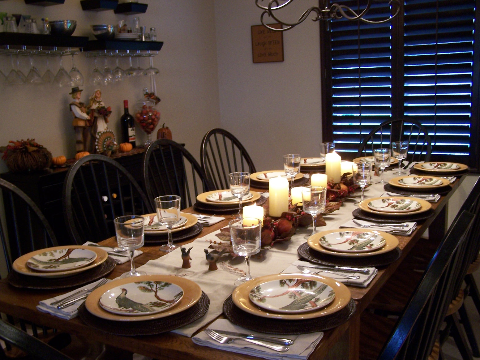 Allyson jane thanksgiving dinner from scratch Dinner table setting pictures