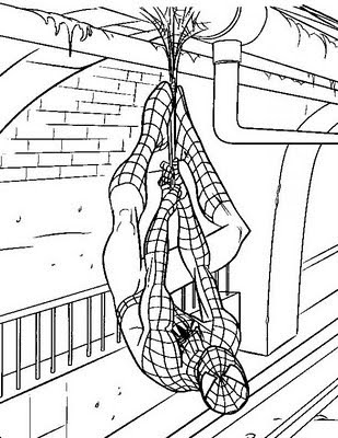 Spiderman Coloring Sheets on Spiderman Coloring Pages   Begopisan