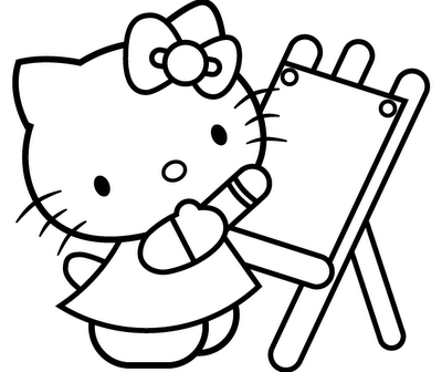 hello kitty coloring page picture 4 - Colouring Pages Of Hello Kitty