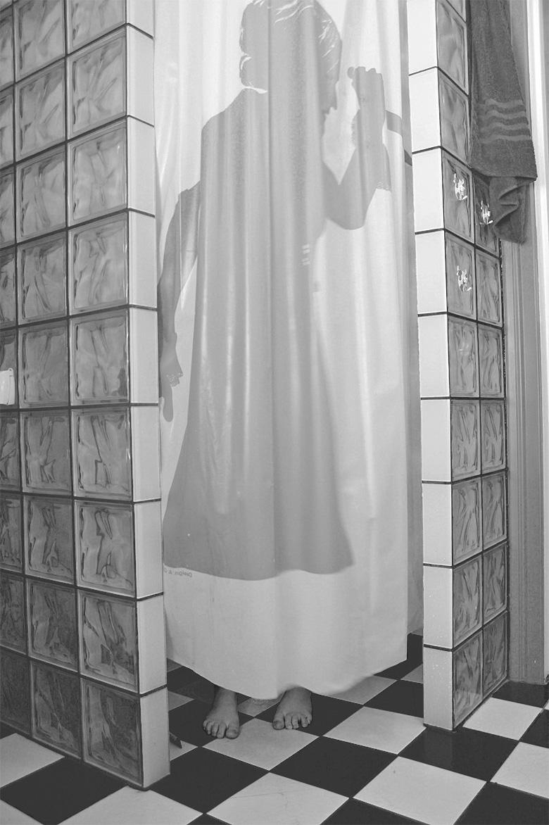 Inredning långt duschdraperi : guaranteed