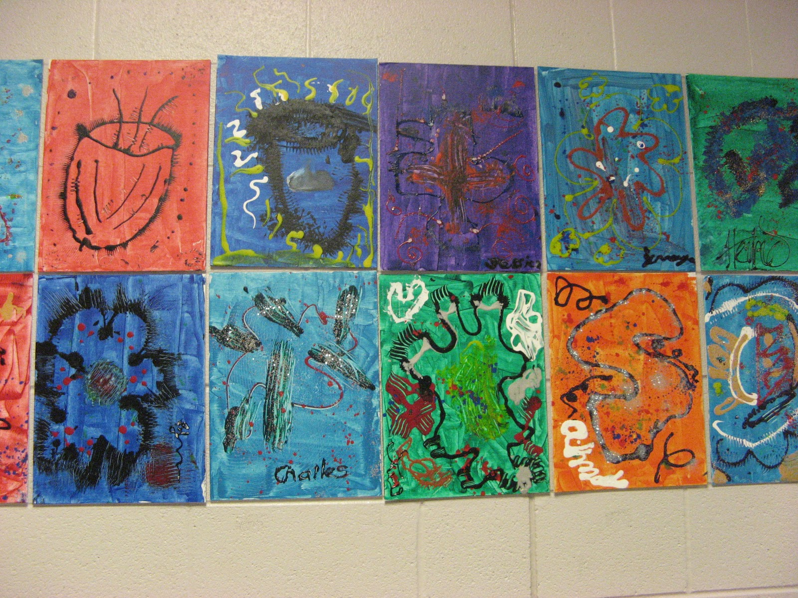 Art Lessons : Mnps chihuly art lessons shayne elementary projects