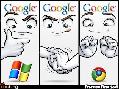 Фото юмор Google vs Microsoft