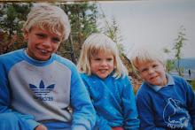 Mina tre barn för 24 år sen..