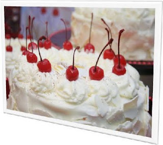 New Red Ribbon White Forest Cake