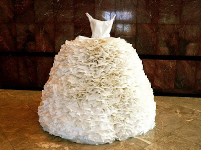 Believe it or not it is a gown solely made out of paper