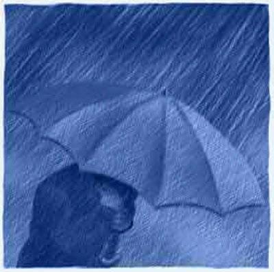 Roccia di Fedeltà!: L'uomo sotto la pioggia... Cantando Santo