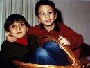 Roberto Iacona e Stefano Ciarma da piccolo.