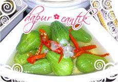 sayur waluh bonsai dapur cantik