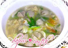 sup perkedel udang dapur cantik