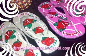 sandal stroberi