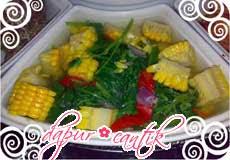 sayur jagung campur teri dapur cantik