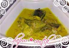 gulai kuning ikan gabus dapur cantik