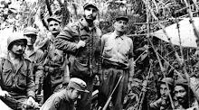 Fidel e guerrilheiros do Movimento 26 de Julho em Sierra Maestra-Cuba