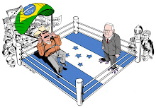 Manuel Zelaya chega em Honduras, por Carlos Latuff