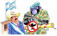 Golpistas impedem Zelaya de entrar em Honduras, por Carlos Latuff