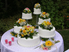 6-tier round buttercream