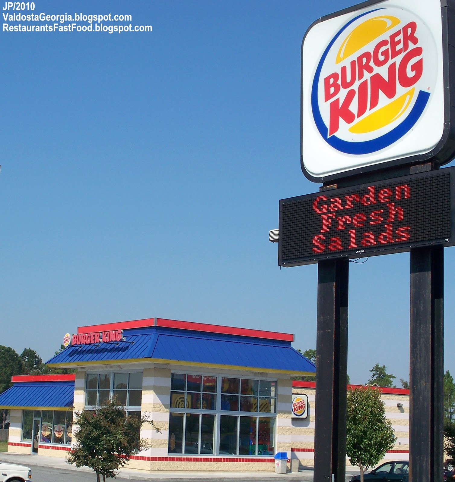 Burger King Valdosta Georgia Shiloh Rd I 75 Fast Food Hamburger Restaurant Ga Menu Mcdonald S Dq Bk Pizza Mexican