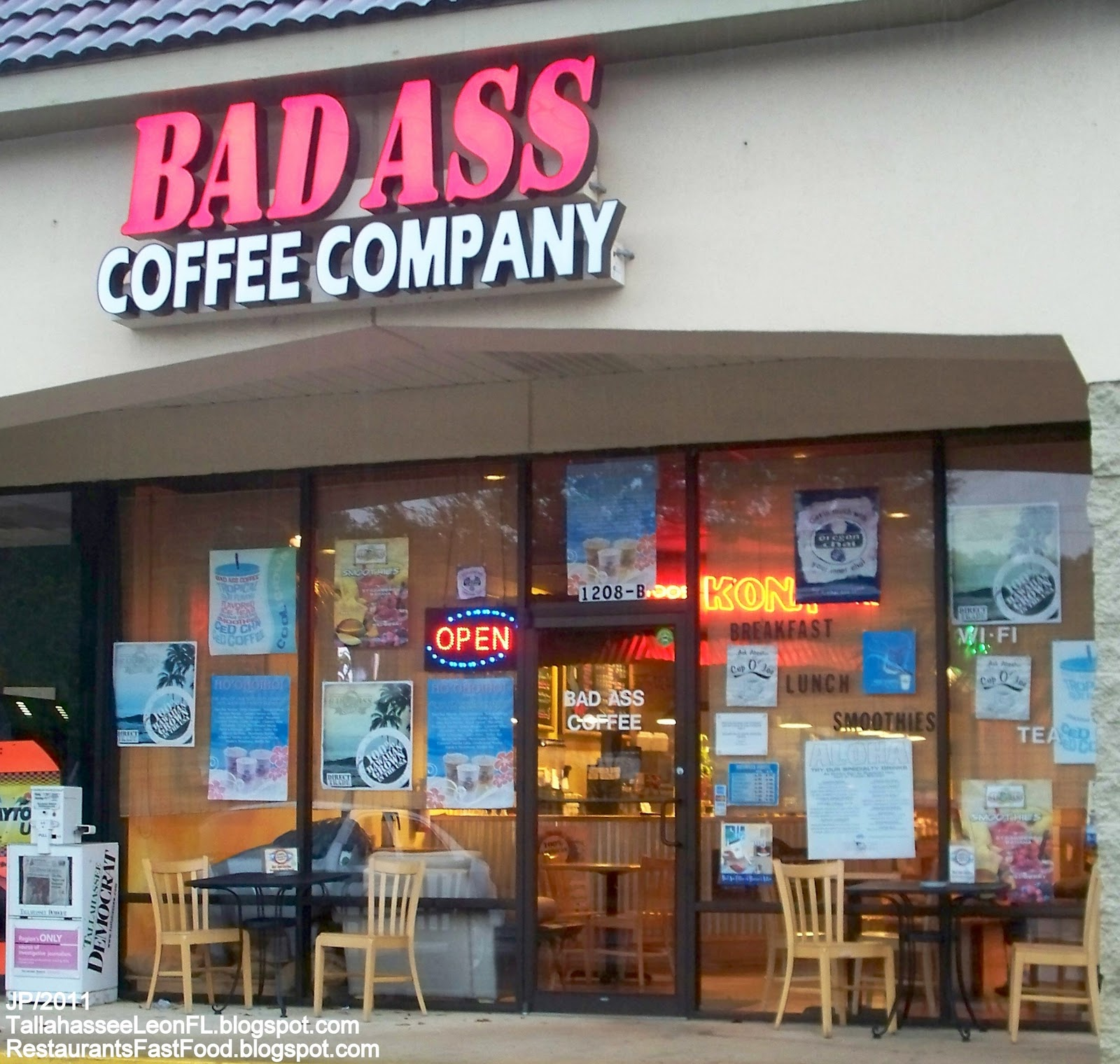 Was Bad ass coffee shop
