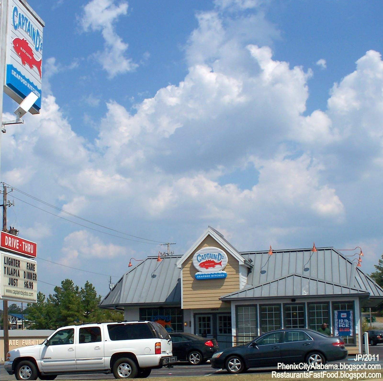 Captain D S Seafood Phenix City Alabama Hwy 280 Fast Food Restaurant Al