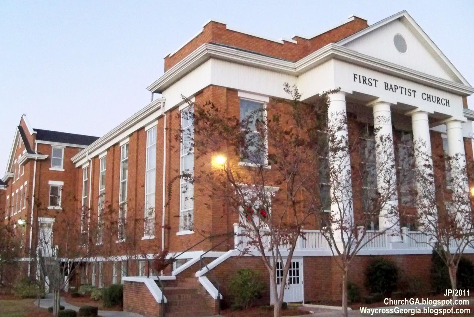 Baptist Church Waycross Georgia First Ware County Ga Downtown