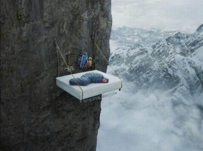 Siapa Yang Berani Tidur Di Tebing?