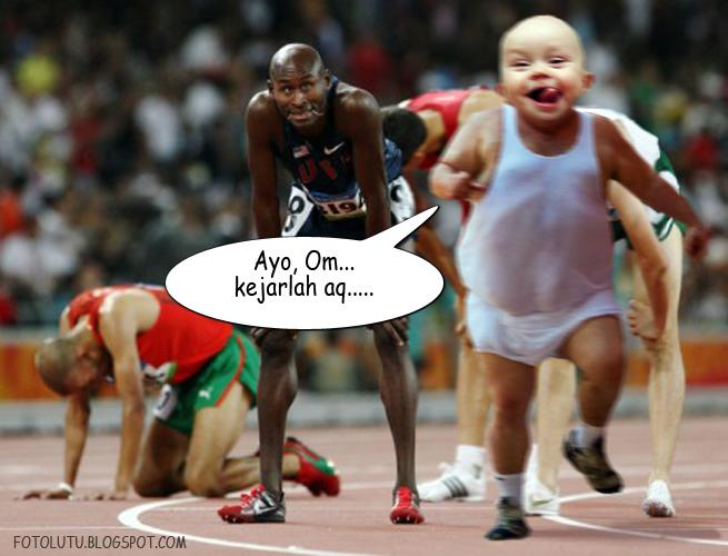 Bayi Lucu Jago Lari, Ngalahin Om-Om