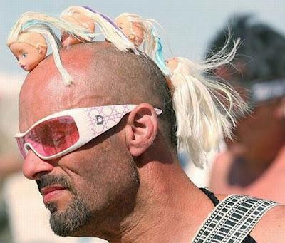 Foto lucu Anak Punk Botak Kreatif Tapi Sok Imut