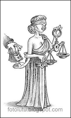 Kartun Lucu Jual Beli Keadilan