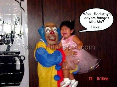 Badut Mirip Bintang Film Horor