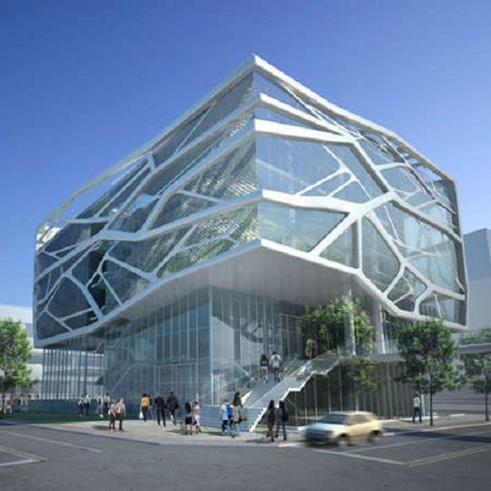 Bentuk Bangunan Terinspirasi Kaca Yang Retak