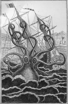 Cumi-cumi Kolosal Digambarkan Menyerang Kapal