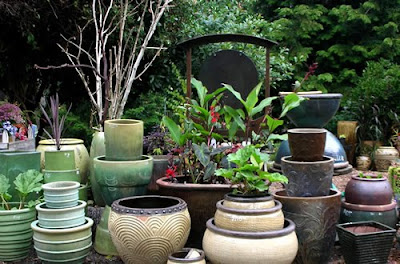 In Asia areas a large size pot or basin is called flower container generally but in western countries flower pots or basins regardless of the size of