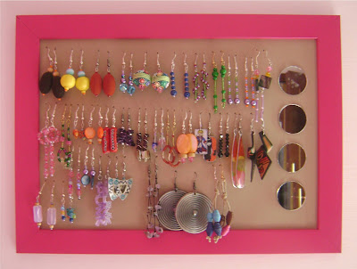 The indie handmade show jewelry holder a diy project and - Porta orecchini ikea ...