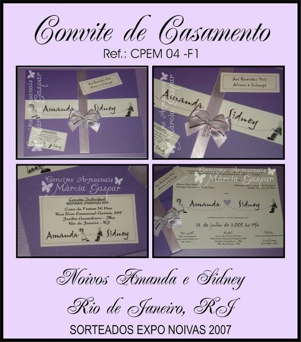 Convite lilás com laço lilás