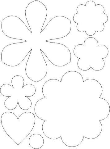 Molde para Patchwork - Flores