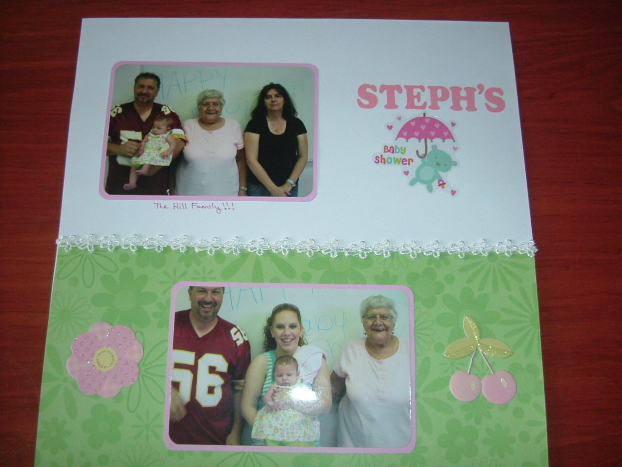 Easy baby scrapbook ideas - If You Are Looking For Some Frugal Quick And Easy Baby Shower Scrapbooking Page Layouts I Think You Will Appreciate Both Of These Ideas