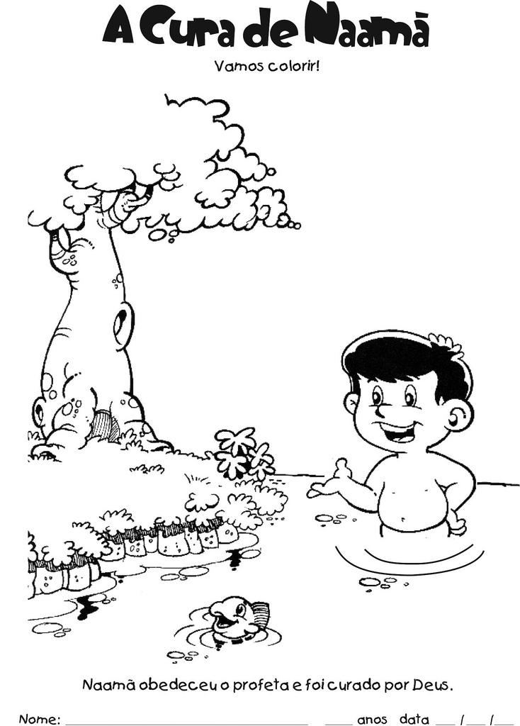 Favoritos HISTÓRIAS EVANGÉLICAS INFANTIS: atividades para a história de Naamã WZ55