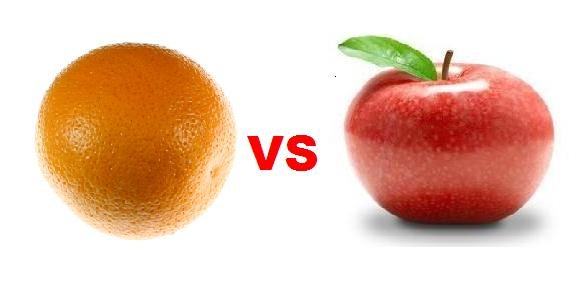 apples versus oranges What's the difference between apples and oranges both apples and oranges are fruits but apples are usually sweet and oranges are usually citrus contents 1 nutrition 11 macronutrients 12.