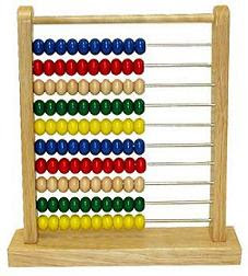 Even the bloody abacus has the blue ones on top