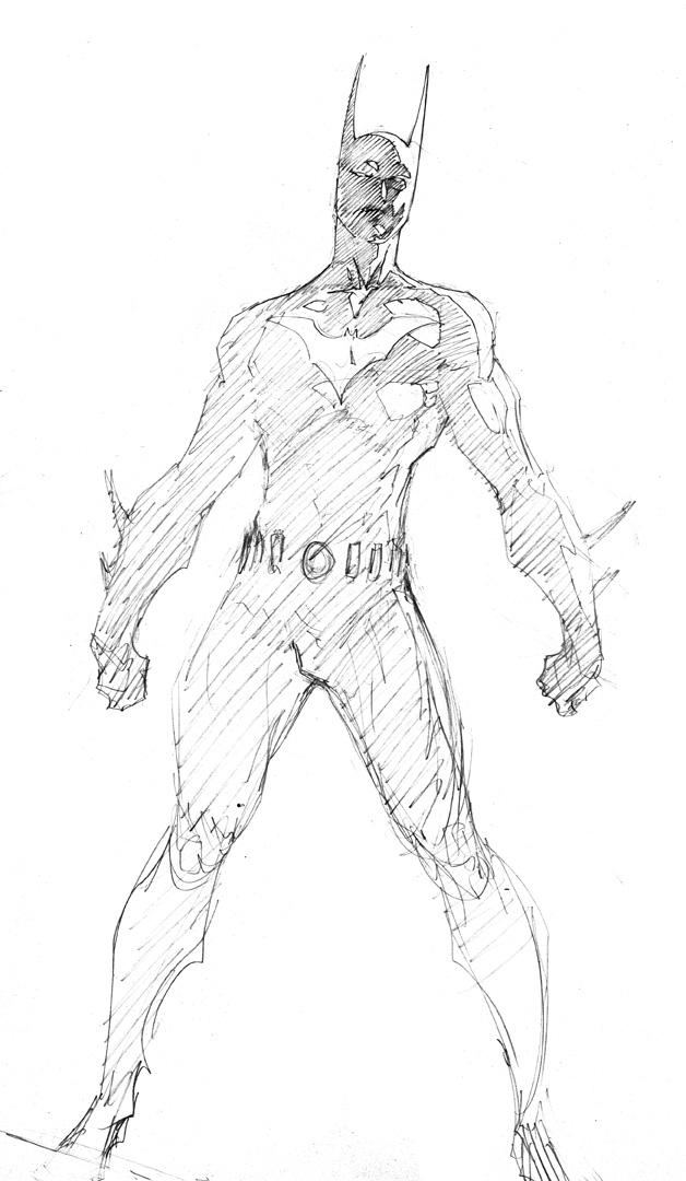 Demonpuppyu0026#39;s Wicked Awesome Art Blog Batman Beyond Sketch