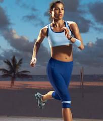 Atleta en plena acción deportiva