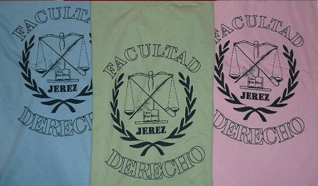 Camisetas FACULTAD DERECHO