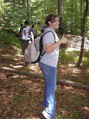 Monica...hiking?!?!