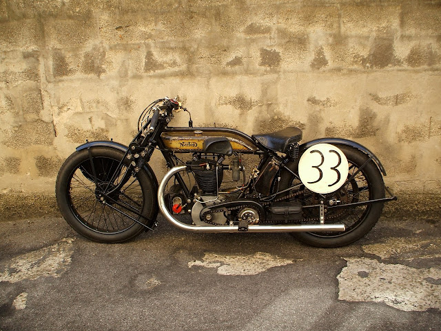 norton m18 chopper bobber custom