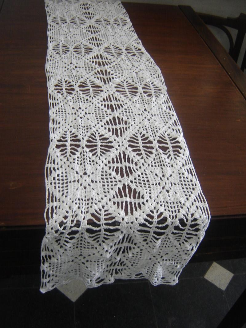 Tejidos en crochet y afines desde la plata elegante - Camino de mesa elegante en crochet ...